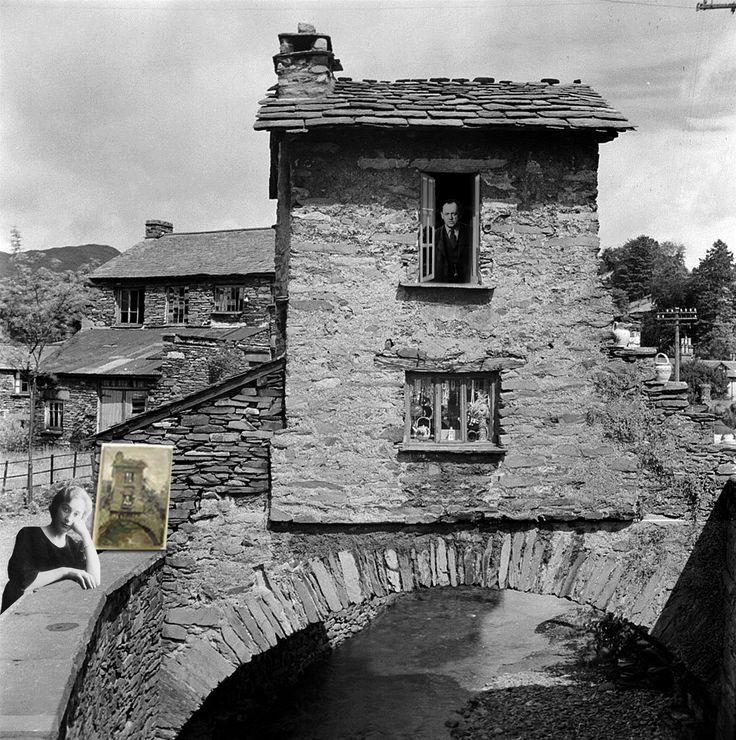 Schwitters con su novia Edith Thomas (él  la llamaba Wantee - ¿quieres te?), en junio de 1945 abandonaron Londres y se fueron a vivir al Distrito de los Lagos, a Ambleside.  Aunque seguía haciendo collages Merz, que no interesaban a nadie, pintaba paisajes y los intentaba vender en la atracción turística de Ambleside, el Bridge House, se sentaba en los escalones varias horas al día ofreciendo sus obras a los transeúntes. La artista alemana Hilde Goldschmidt, expresionista de origen judío…