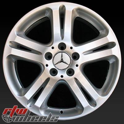 "Mercedes E500 wheels for sale 2004-2006. 17"" Silver rims 65332 - http://www.rtwwheels.com/store/shop/mercedes-e500-wheels-for-sale-17-silver-65332/"