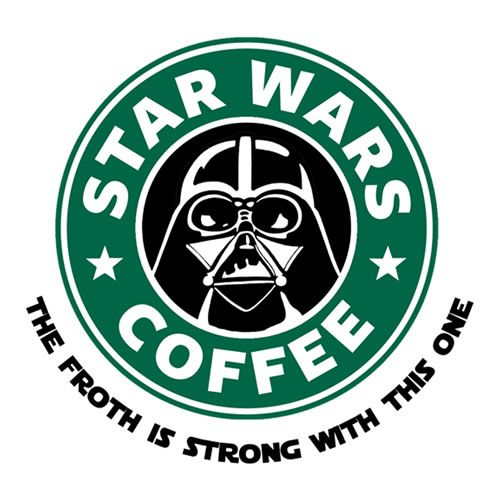 Starbucks-Star Wars mash up - The froth is strong with this one (Darth Vader replaces the Starbucks mermaid)