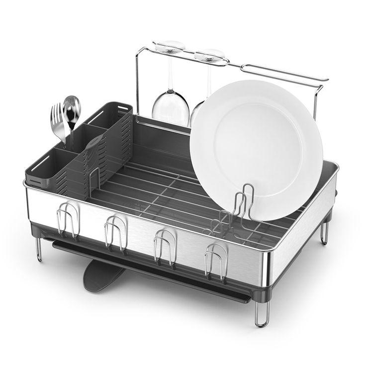 how to clean simplehuman dish rack
