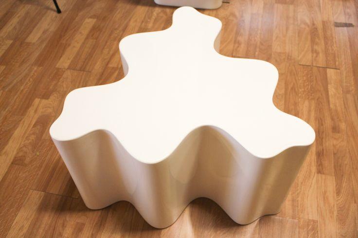Galerie design Clément Cividino Ent. - Perpignan / Table cylindrique Les Simonnet sculpteurs