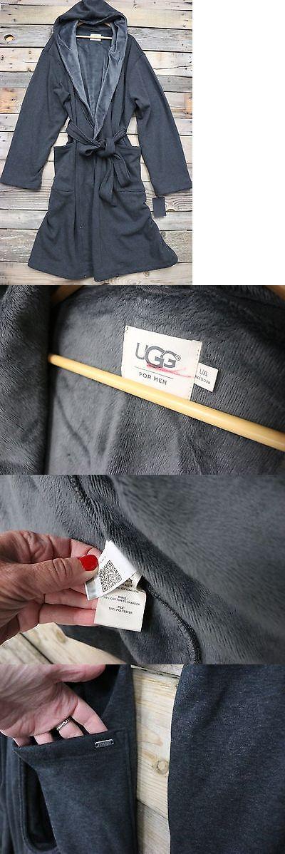 Sleepwear and Robes 11510: Ugg Australia Mens Brunswick Charcoal Cotton Hooded Robe Sleepwear L Xl New! -> BUY IT NOW ONLY: $91.95 on eBay!