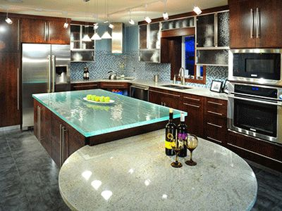 Countertop Kitchen Kitchen Islands Curved Countertop Countertops Ideas