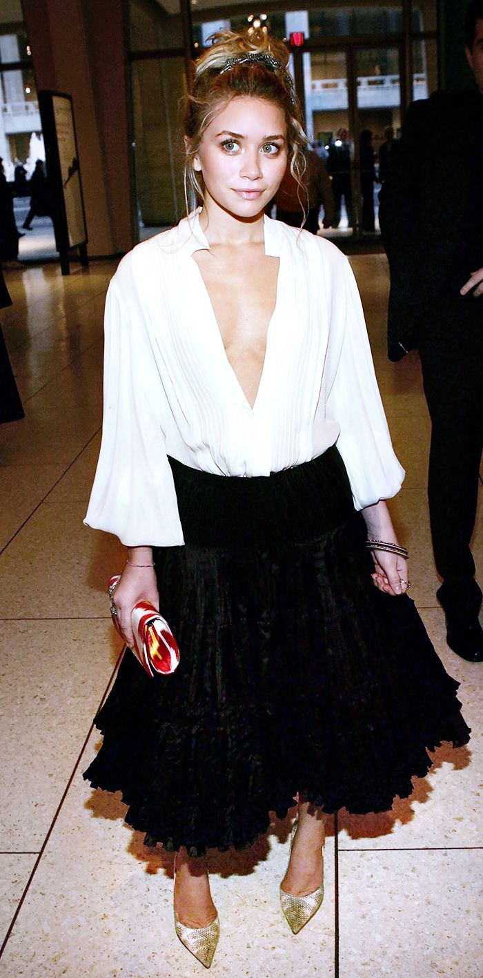 This timeless look from Ashley Olsen is perfect for date night. // #fashion #TBT