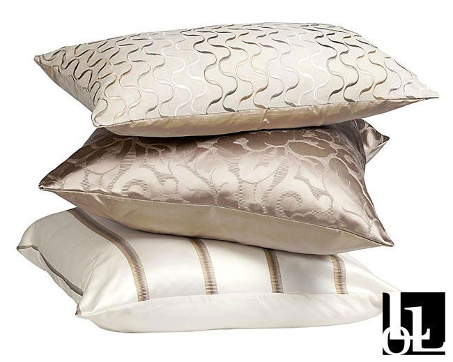 Mirage Stripe Taupe, Mirage Taupe and Mirage Embroidered Scatter Cushions at Loads of Living