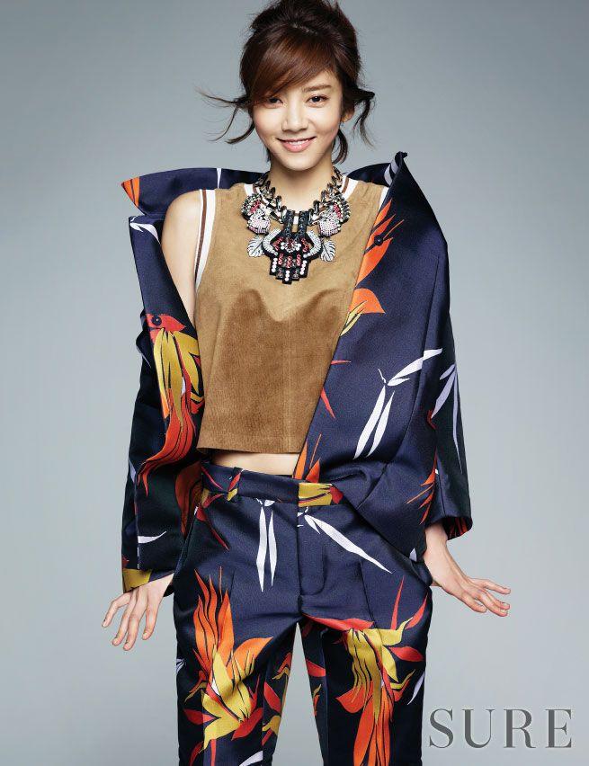 Korean actress Son Dam Bi Sure Magazine