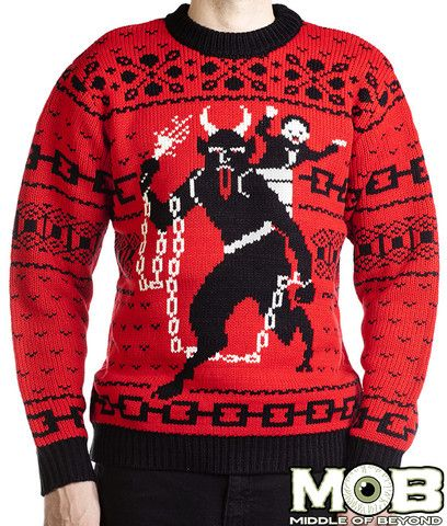 Krampus The Christmas Devil Pullover Sweater – middleofbeyond - looks awesome, but kind of itchy.