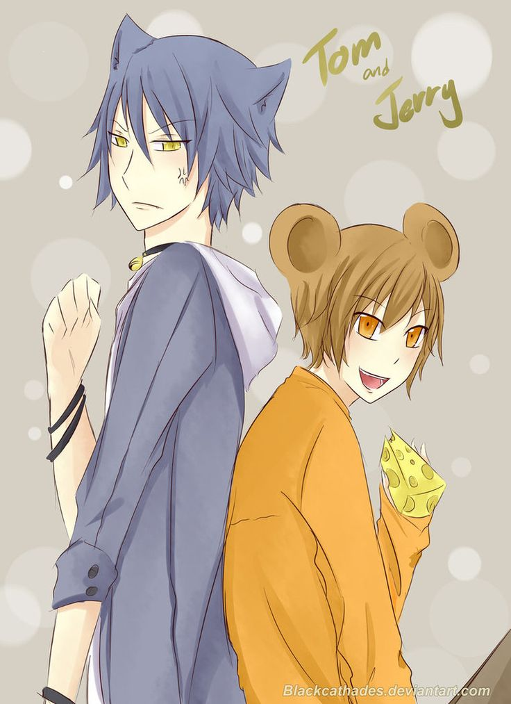 Tom and Jerry as anime characters