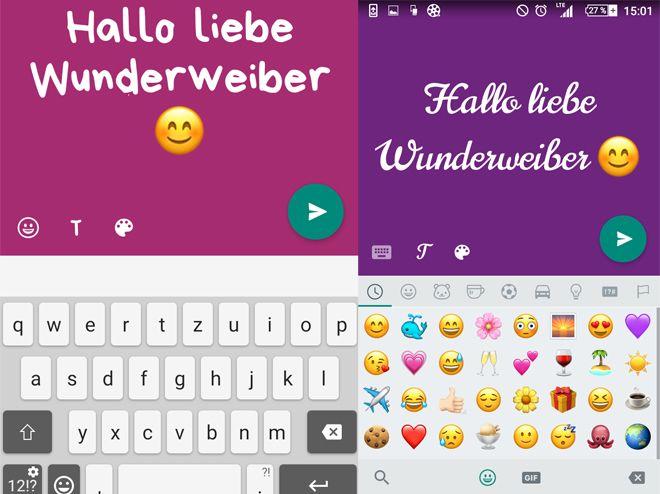 Neue Whatsapp Funktion Status Updates Als Bunte Texttafeln
