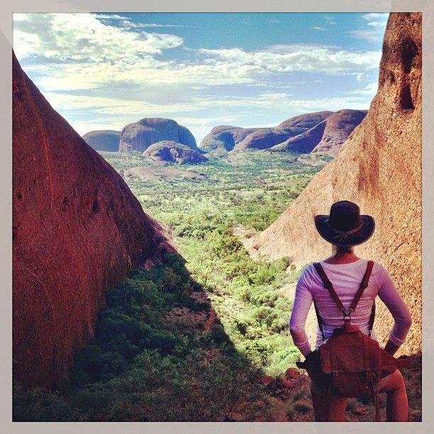 Overlooking Kata Tjuta on my G Adventures tour through Northern Territory.