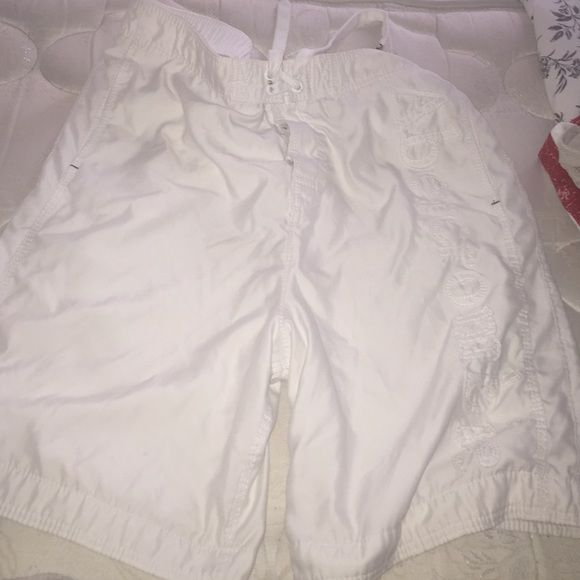 Men's Abercrombie & Fitch swimming shorts Used Abercrombie swimming shorts, still lots of use to them, no visible stains. Abercrombie & Fitch Shorts