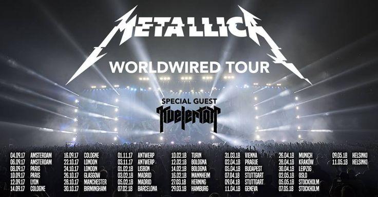 Metallica 2017 Europese tour data zijn bekend onder andere amsterdam en antwerpen