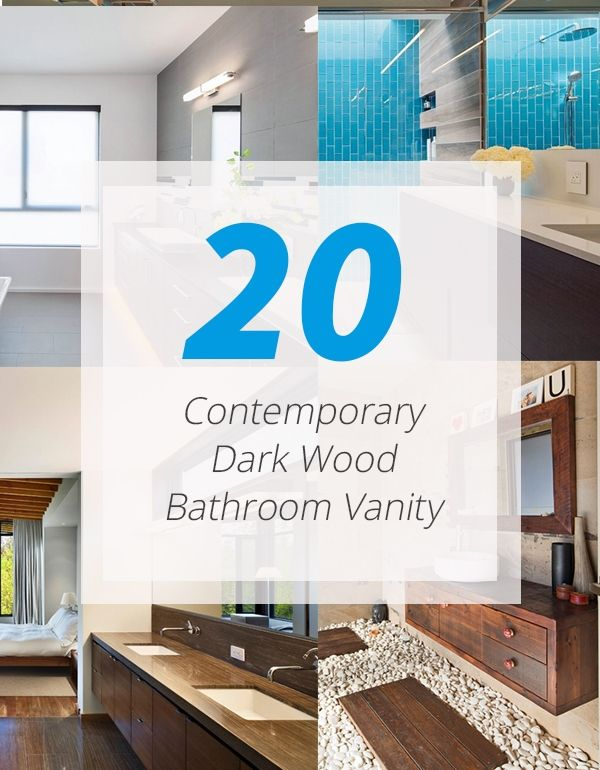 20 Stunning Contemporary Dark Wood Bathroom Vanity