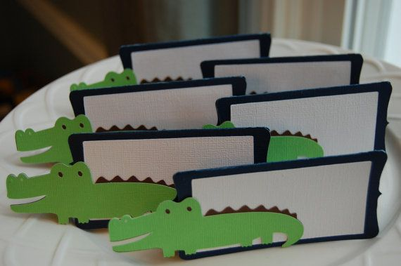 Alligator Food Labels Place Cards Alligator Party by GiggleBees, $11.00