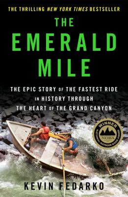 """Fearlessness, and possibly foolishness, compelled Kenton Grua and a small crew to launch a refurbished dory, a flat-bottomed fishing boat, named Emerald Mile into the Colorado River """"on the crest of [a] flood tide"""" late one night in the summer of 1983. Grua used the swollen river """"as a kind of hydraulic slingshot"""" to pitch them as fast as possible from Lee's Ferry on one end of the canyon, to the Grand Wash Cliffs on the other."""