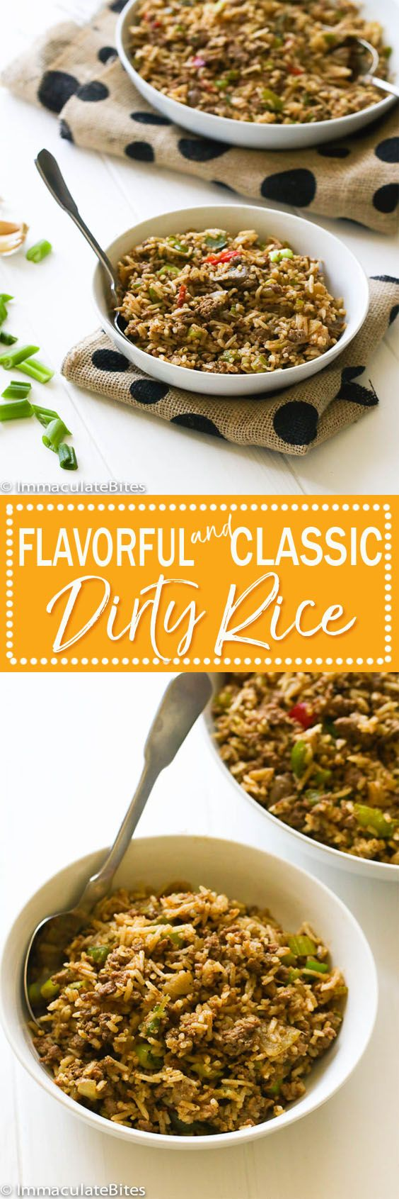 Dirty Rice - An incredibly rich and tasty one pot rice meal made from scratch with aromatics , seasoned with creole spices and fortified with ground beef , chicken livers and bacon. Liver haters you are going to love this too!