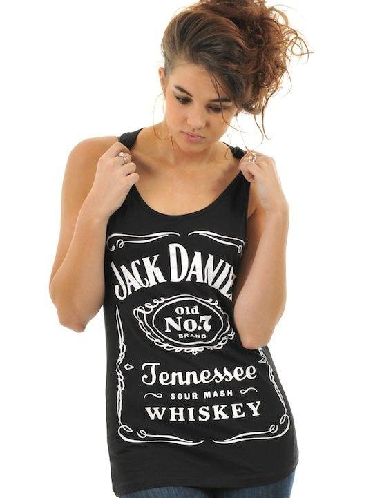 Jack Daniels Black Classic Logo Womens Tank Top