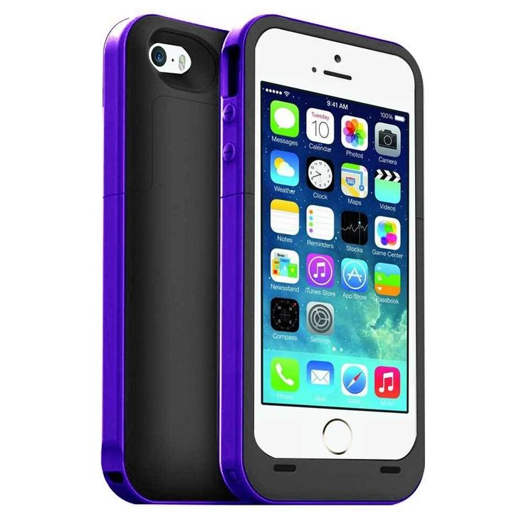 Black and Purple 2500mAh iphone 5 5s and SE power charging cases available from our online webstore
