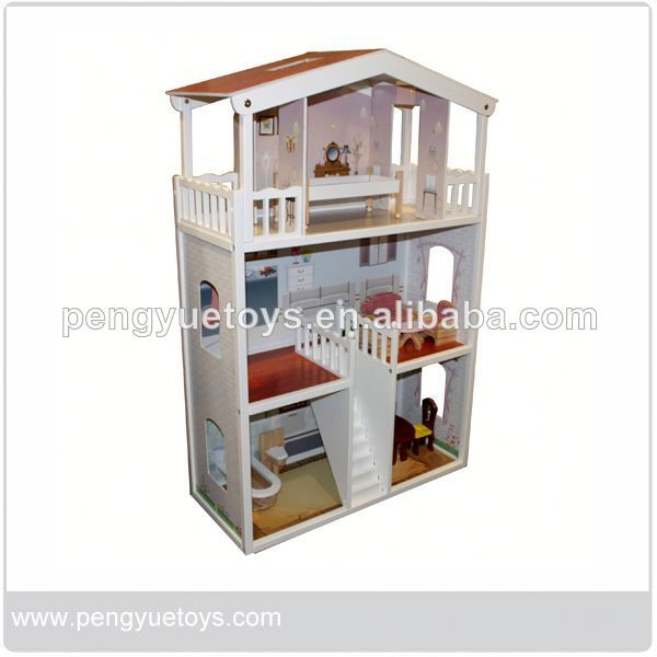 Wooden Doll House Furniture - Buy Doll House Miniature,Doll Houses For Sale,Toy Doll House Product on Alibaba.com