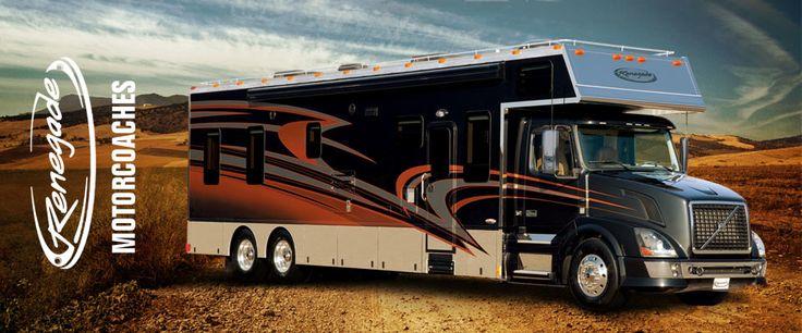 Custom Luxury Motor Homes, Sportdecks, & Trailers | Renegade RV | I want one!