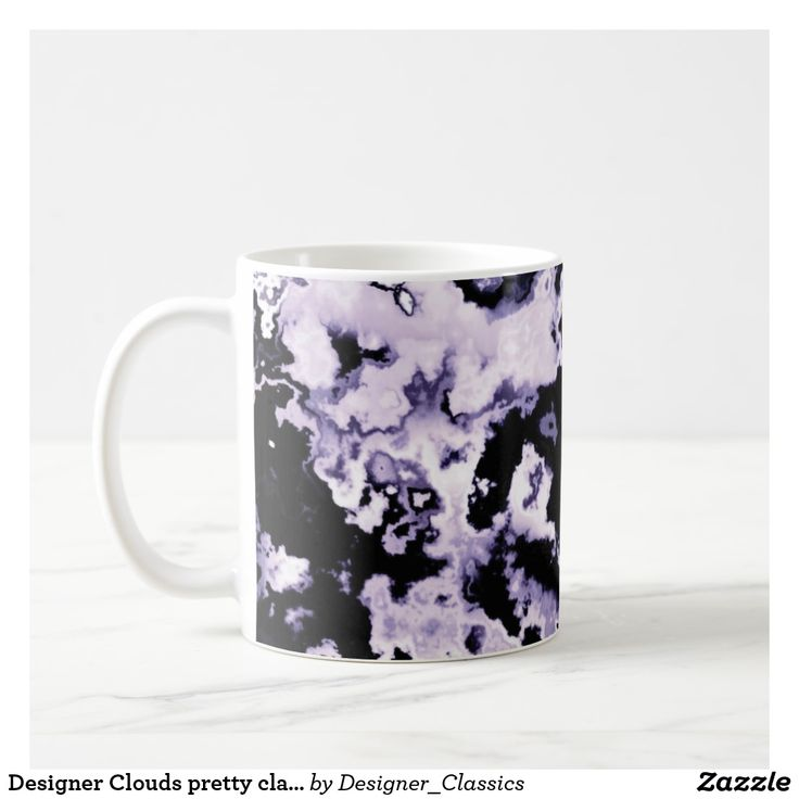 Designer Clouds pretty classic mug