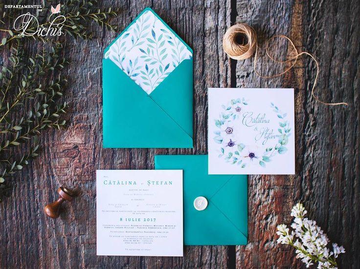 """Purest Wreath"" Wedding Invitation"