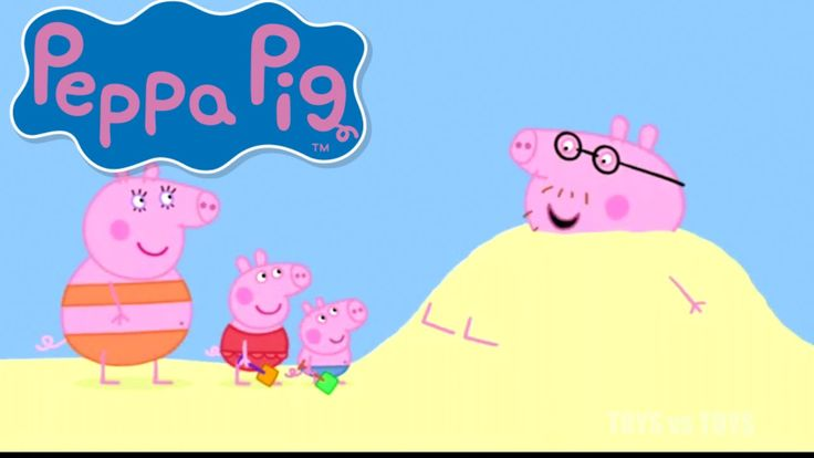 Peppa Pig Daddy Puts up a Picture At the Beach Season 1 Episode 47 48