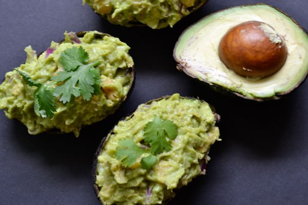 Deviled Avocados - peace. love. quinoa: Eggs Allergies, Black Beans, Deviled Avocados, Dinners Last Night, Salad Atop, Avocados Guacamole, Easter Brunch, Atop Black, Beans Tostadas