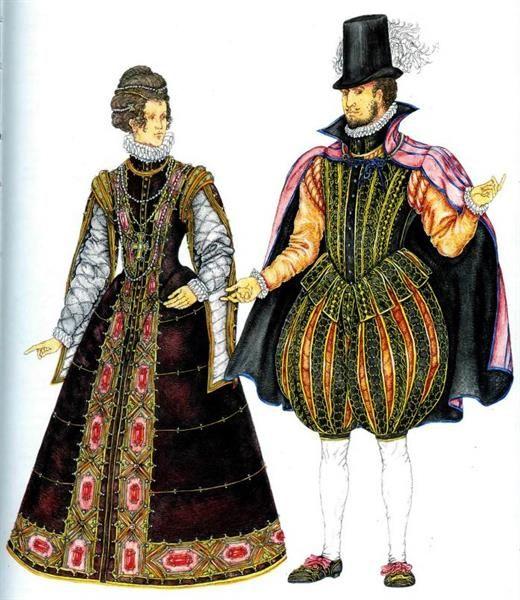 Мужской и женский костюмы возрождения