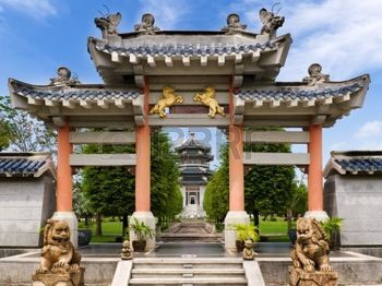 中国の庭様式の入口の正面図 photo