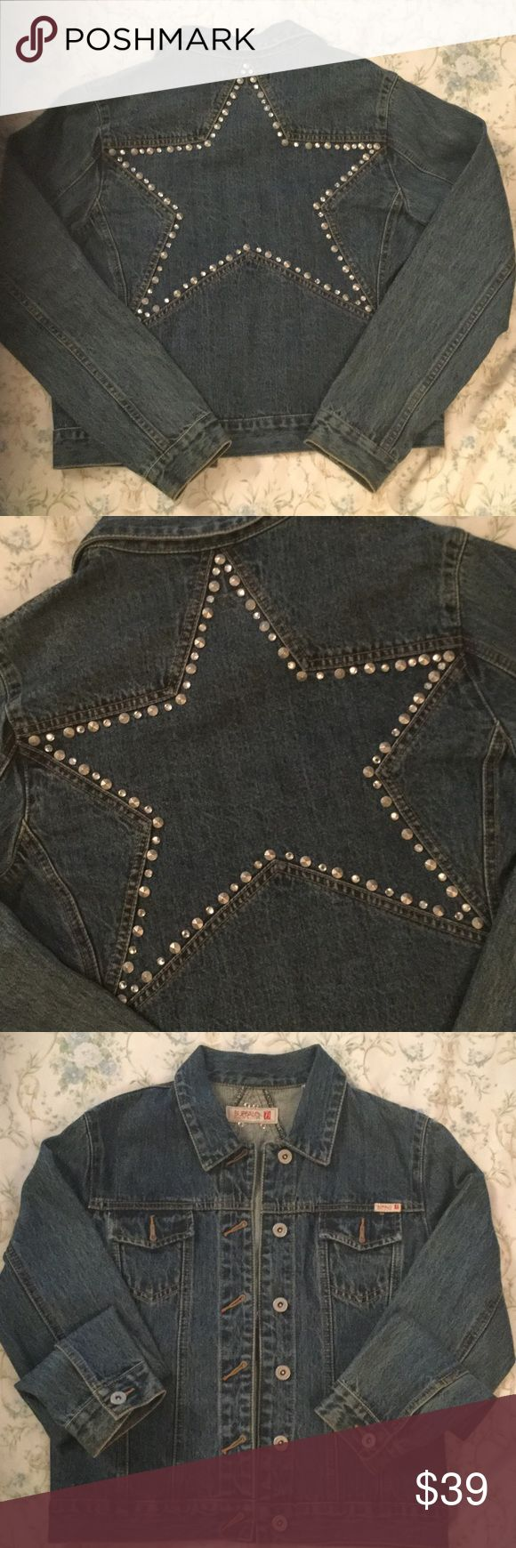 🌷Buffalo David Bitton Star Studded Denim Jacket🌷 ⭐️Buffalo David Bitton Star Studded Denim Jacket⭐️Barely worn. Perfect Condition⭐️Size M⭐️100% Cotton⭐️6 Buttons in front. 1 button at end of each sleeve. ⭐️Long sleeves⭐️Closet Staple⭐️ Buffalo David Bitton Jackets & Coats Jean Jackets