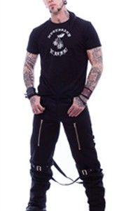 """www.gothlab.com Necessary Evil"""" Pantaloni Hypnos Mens Bondage: Pantaloni neri con zip. Pantaloni  dotati di stringhe posteriori lunghe cerniere nella parte anteriore della coscia e fibbie al ginocchio. """"Le scelte nell'#abbigliamento non sono mai arbitrarie. Anche quando sostieni che non ti importa come ti #vesti, fai una scelta attraverso cui tenti di #comunicare qualcosa"""". Felicity Jones  #man #gothic #metal #rock #uomo #abbigliamento #style #sportivo #pants #tshirt #maglia…"""