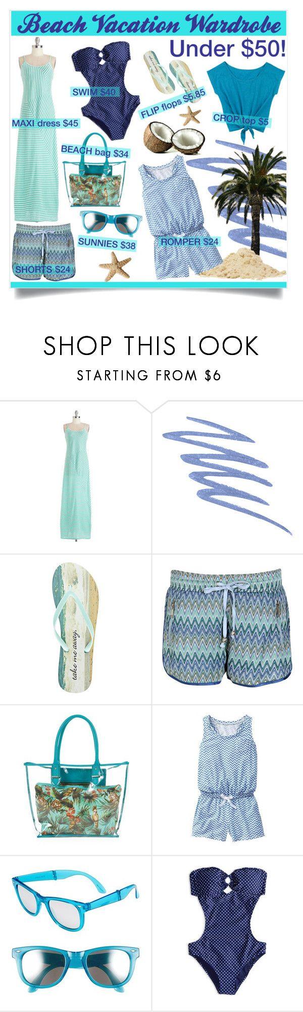 """""""Beach Vacation Wardrobe"""" by reddotdaily ❤ liked on Polyvore featuring Stila, Wet Seal, Boohoo, Gap, Outlook Eyewear, American Eagle Outfitters, Summer, beach and vacation"""