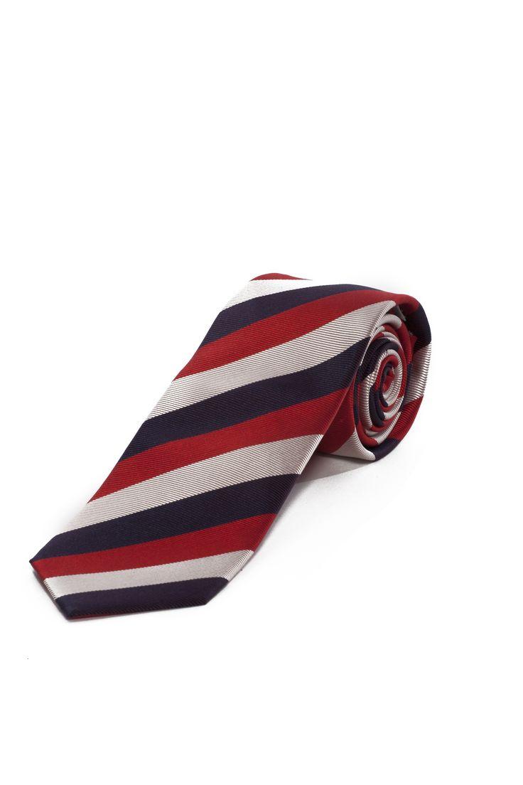 Cravate à grosses rayures / Large stripes tie www.tristanstyle.com
