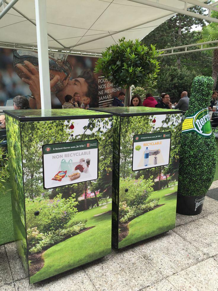 Smartpack by Harmony : Recyclage des déchets à Roland Garros ces mini compacteurs divisent par 10 le volume des déchets et envoient un message lorsqu'il faut les vider !