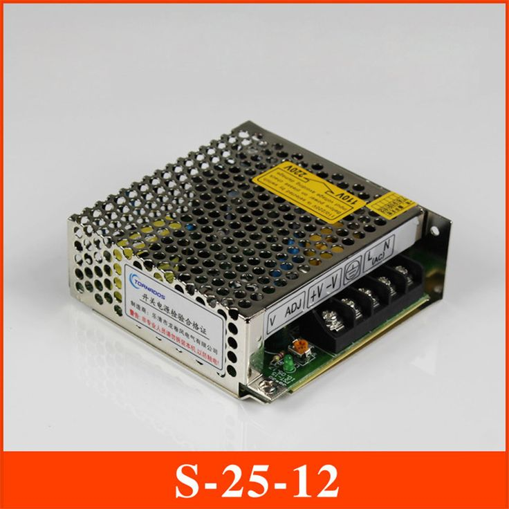 S-25-12  Switching Mode Power Supply 25W 12V 2A DC Aluminum shell switching power supply for LED advertising lamp free shipping