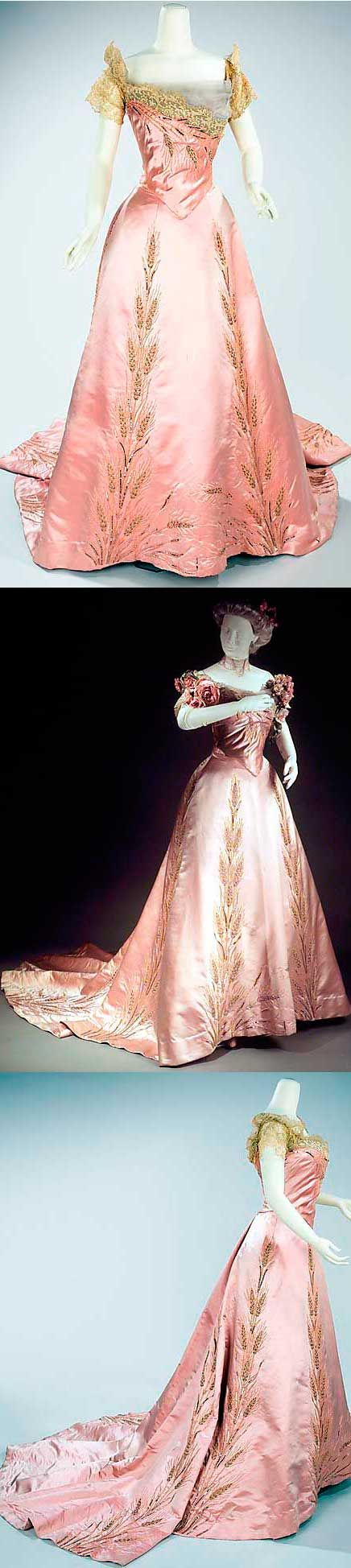 From the famous Parisian House of Worth, ca. 1900. Silk and rhinestones.