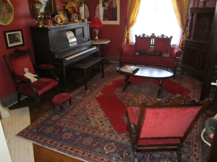 Elegant Carved Eastlake Victorian Parlor Set With Rocker