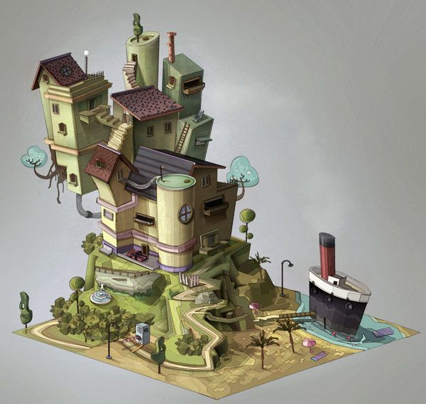 SOCIAL GAME ILLUSTRATIONS PART 2. TOWNER by Nazareno Rosso, via Behance