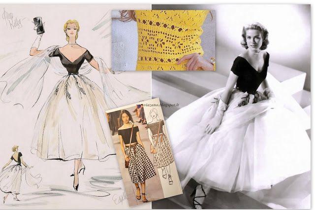 ВСЕ СВЯЗАНО. ROSOMAHA.: Платье с ажурной деталью крючком. Нью-лук Диора.