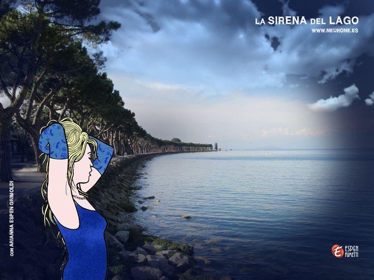 #la #sirena #del #lago - storia illustrata da #giorgio   #espen  che narra di un'avventura sul lago di #garda  ..precisamente a #peschiera . lavori in cerca di editore o semplicemente da riprodurre su pannelli per esposizione in qualche prestigioso locale/galleria. Per il momento INVITo a visitare il sito e scaricarsi i wallpaper dedicati alla storia con la brava #modella   #italiana   #ariannaespengrimoldi  che saluto e ringrazio!