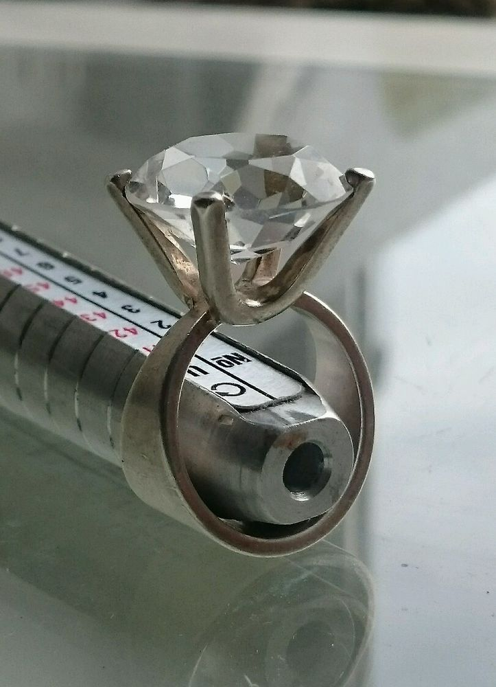 Marianne Berg for Uni David Andersen Norwegian Silver and Rock Crystal Ring #DavidAndersen