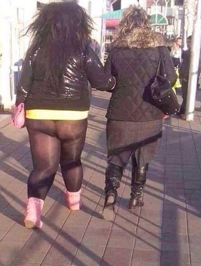 I'm Off to Walmart Need Anything? YES. Buy Pants NOT Tights Girl - Fashion Fail - Funny Pictures at Walmart