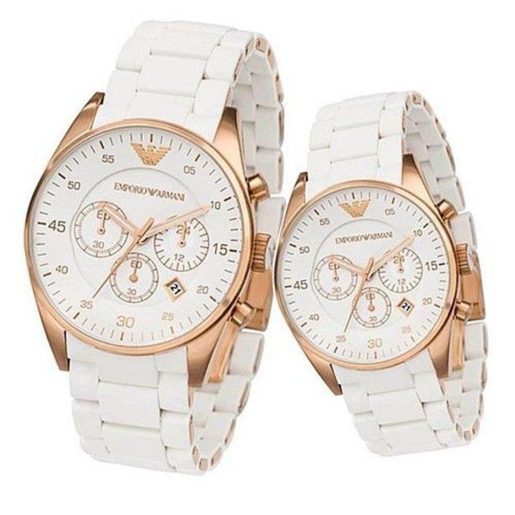 Emporio Armani AR 5919 & AR 5920 Chronograph Combo Men & Women Watch
