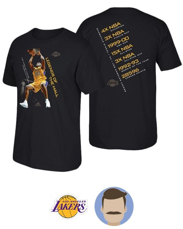 Men's Shaquille O'Neal Hall of Fame Accomplishment Black T-Shirt