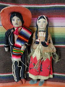 Vintage mexican doll