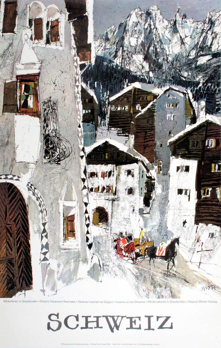 SCHWEIZ - GRAUBUNDEN ST MORITZ (1964 by Hugo Wetli)