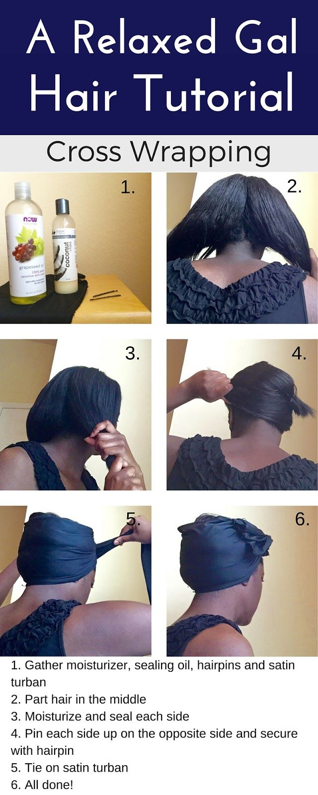 A Relaxed Gal Hair Tutorial on Cross Wrapping | arelaxedgal.com