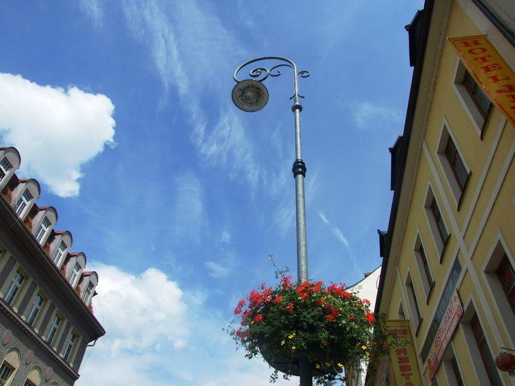 Karlovy Vary (west Bohemia) - sky above of the Masaryk street