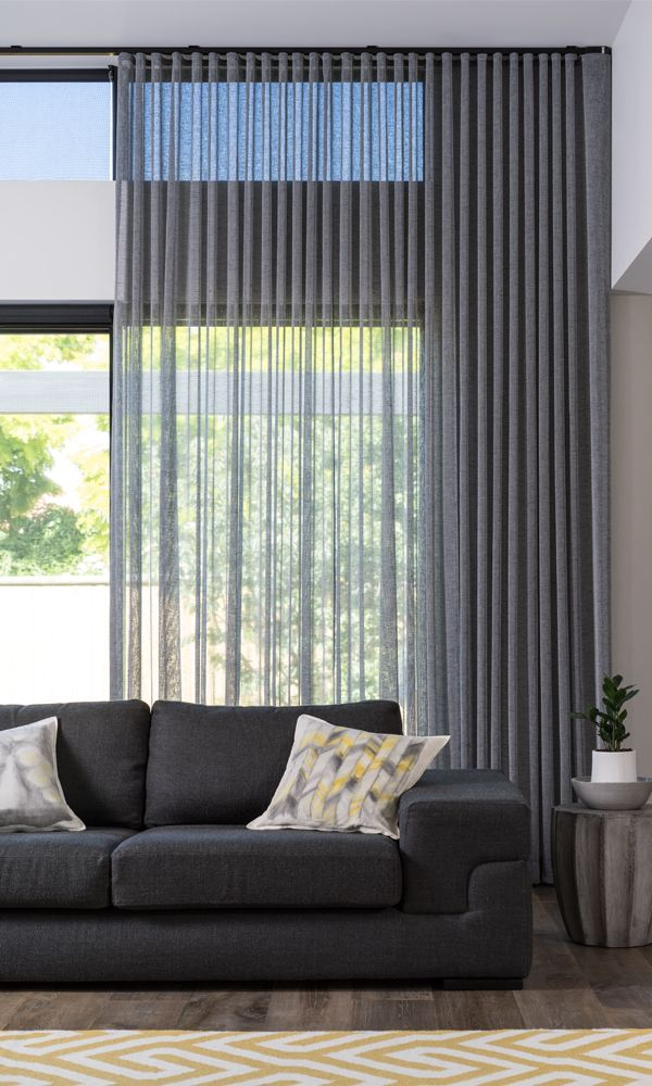 Sabre Sheers a gorgeous new sheer fabric that drapes like a dream. Available in 14 stunning colours, Sabre gently filters light and features a weighted hem, allowing you to make full use of the 300cm of fabric. Flame Retardant tested to AS1530.2, Sabre is ideal for domestic and commercial use.